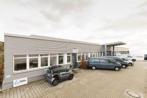 Firmensitz und Fahrzeugflotte der Delta Bauwerksinstandhaltung GmbH