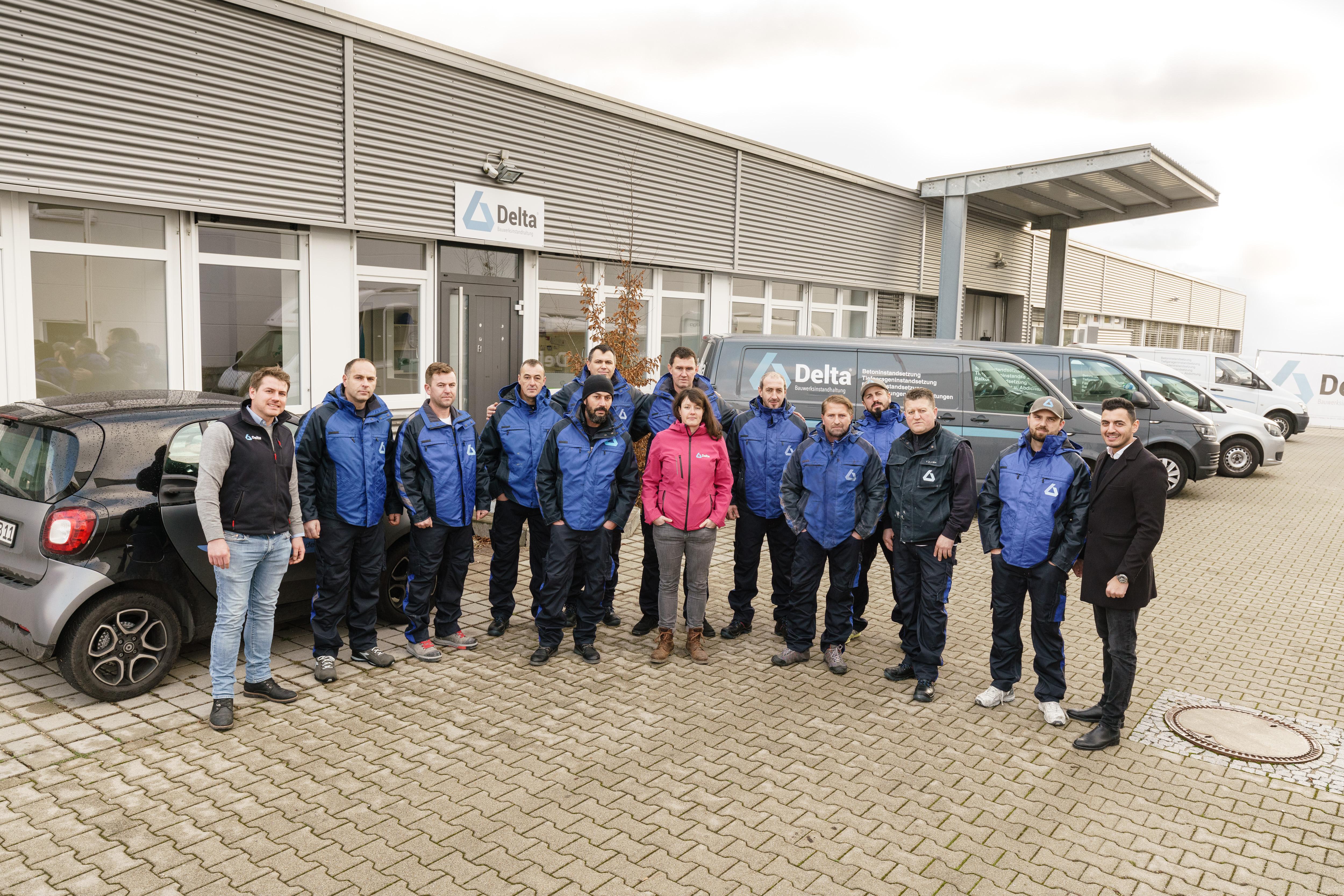 Gruppenfoto vom Team der Firma Delta